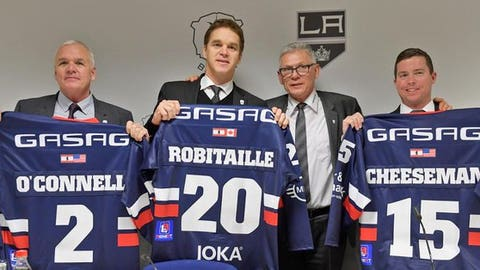 Luc Robitaille in Berlin for the announcement