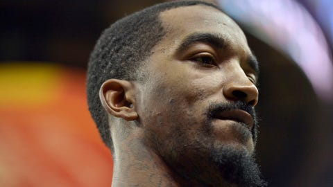 Cleveland Cavaliers guard J.R. Smith walks off the court after an NBA basketball game Wednesday, Dec. 14, 2016, in Memphis, Tenn. (AP Photo/Brandon Dill)