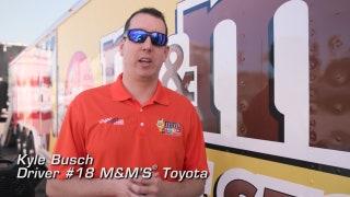 Kyle Busch's M&M's Suprise