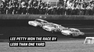 Lee Petty Wins the 1959 Daytona 500 by One Yard