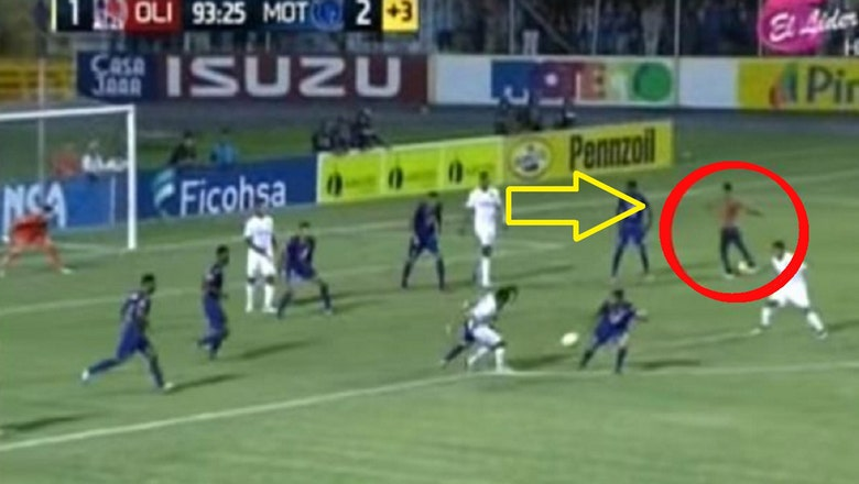 A pitch invader helped this 1st-division team equalize and the ref allowed it