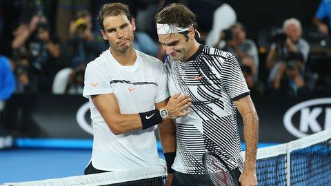 2017: Australian Open final (Federer wins 6-4, 3-6, 6-1, 3-6, 6-3)