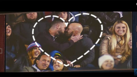 Kiss cam video shows love has no labels and knows no discrimination