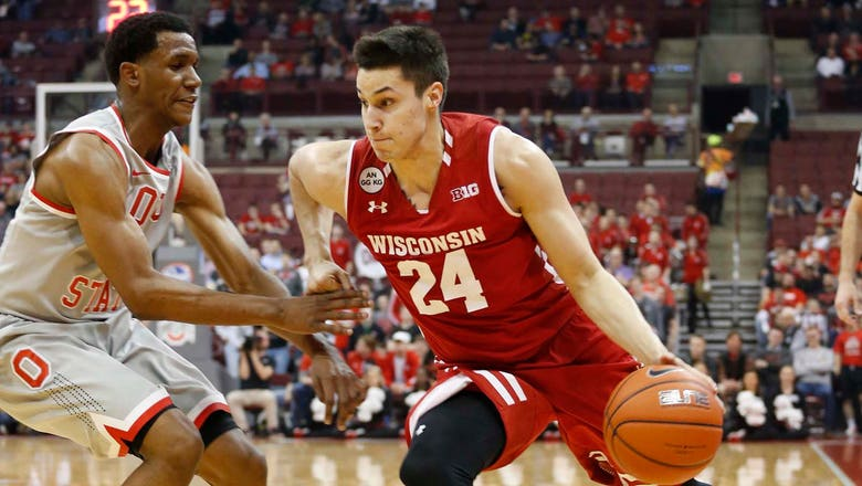 Koenig ties career high in Badgers' loss