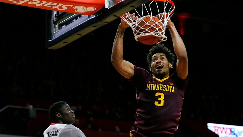 Murphy's double-double lifts Gophers over Rutgers