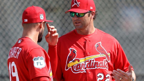 Jordan Schafer and Mike Matheny