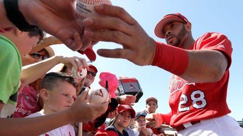 Tommy Pham signing autographs