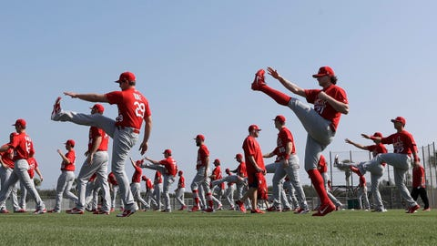 Cardinals stretching