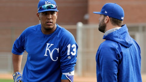 Salvador Perez and Mike Moustakas