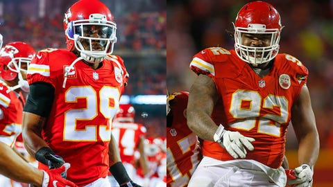 Chiefs safety Eric Berry (left) and defensive tackle Dontari Poe.