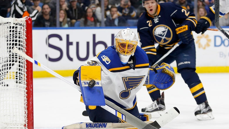 Blues' winning streak ends at six games with 3-2 loss to Sabres