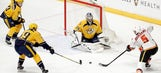 Predators LIVE To GO: Preds fight back after 4-1 deficit, but fall 6-5 in OT to the Flames