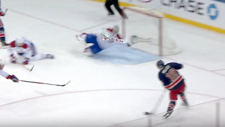 Carey Price stones Rangers with great diving save in overtime