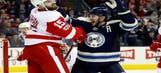 Atkinson, Bobrovsky lift Blue Jackets over Red Wings 2-1
