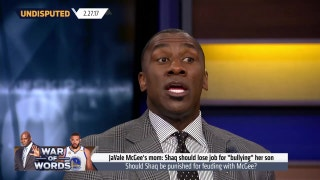 Shannon Sharpe reacts to the JaVale McGee vs Shaq's war of words | UNDISPUTED