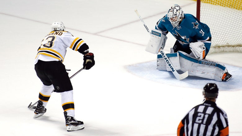 The Bruins used a beautiful set play to finish off the Sharks in OT