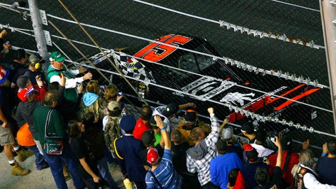 He won at Daytona in a Truck Series race
