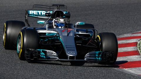 Valtteri Bottas turned the fastest time during the third day of preseason testing. (Photot: Glenn Dunbar/LAT Images)