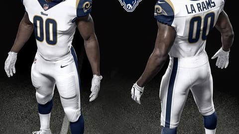 The 2017 Los Angeles Rams home uniforms