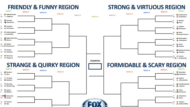College basketball team nickname bracket: Day 3 of first-round voting is open