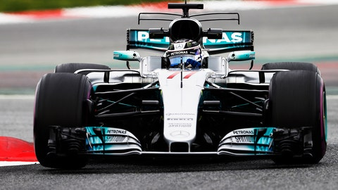 Valterri Bottas turned a 1:19.310 on Wednesday. (Photo: Glenn Dunbar/LAT Images)