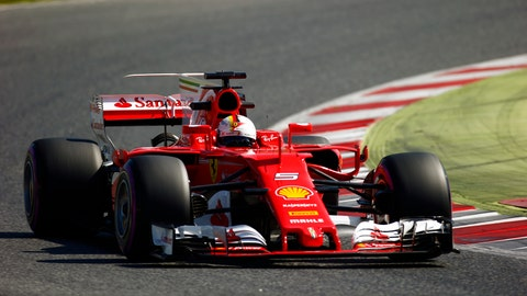 Sebastian Vettel set a blistering pace on Thursday, despite seemingly sandbagging in the last sector. (Photo: Sam Bloxham/LAT Images)