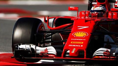 Kimi Raikkonen turns the quickest time of the winter ahead of the F1 season opener. (Photo: Glenn Dunbar/LAT Images)