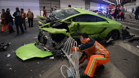 Ever wondered where exotic cars go to die? Sacramento, California. (Photo: Getty Images)