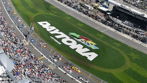Daytona International Speedway looked a little different just two weeks ago. (Photo: Nigel Kinrade/LAT Images)