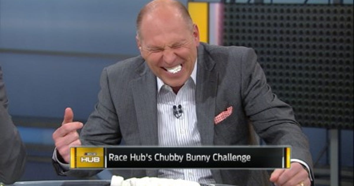 Watch as 'Chubby Bunny Challenge' drives Adam Alexander to uncontrollable laughter | FOX Sports