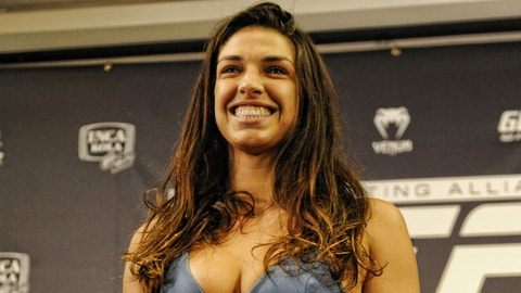 UFC President Dana White checking out 'little badass' Mackenzie Dern