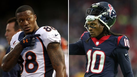 Wide receivers: Toss-up