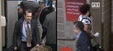 Watch as Tom Brady's Super Bowl jersey is stolen from the Patriots locker room