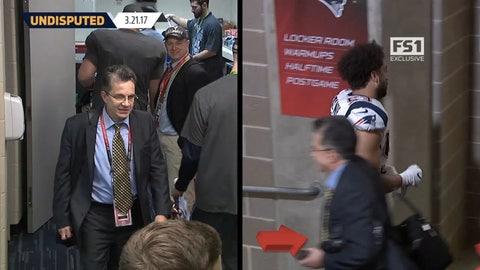 The suit of the guy who stole Tom Brady's jerseys