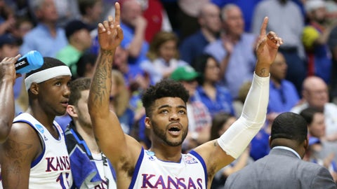 Approx. 9:39, CBS: No. 1 Kansas vs. No. 4 Purdue