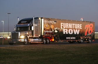 Furniture Row Racing hauler suffers damage in hit-and-run accident