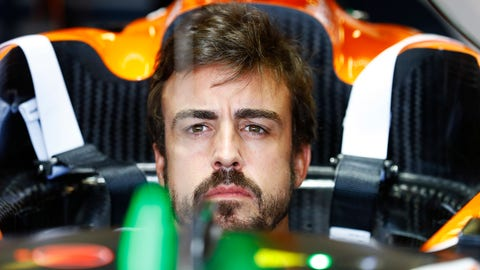 Fernando Alonso sits in his McLaren-Honda ahead of this weekend's Australian GP. (Photo: Steven Tee/LAT Images)