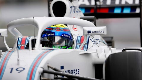 Felipe Massa drives with the Halo ahead of the 2016 Mexican GP. (Photo: Glenn Dunbar/LAT Photographic)