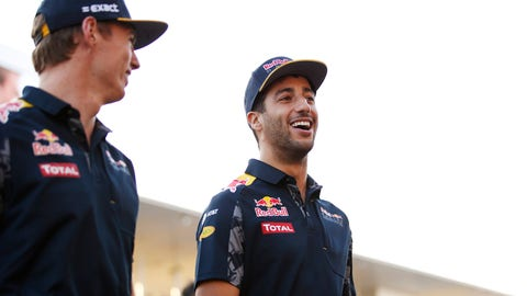 Daniel Ricciardo (R) and Max Verstappen will be teammates at Red Bull Racing in 2017. (Photo: Sam Bloxham/LAT Photographic)
