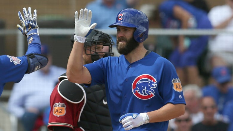 Watch Jake Arrieta crush a 465-foot HR off Zack Greinke in his first spring at-bat