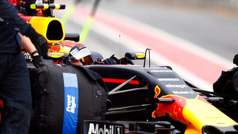 Max Verstappen's weekend is off to a frustrating start. (Photo: Sam Bloxham/LAT Images)