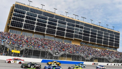 What did you think about Atlanta Motor Speedway's decision to hold off on repaving?
