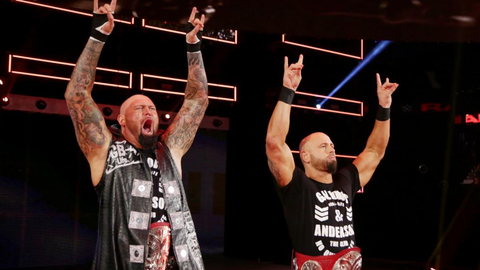 Gallows and Anderson vs. the No. 1 contenders from Raw