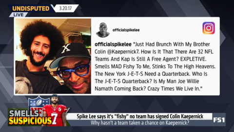 Spike Lee: Kaepernick still being a free agent smells 'fishy'