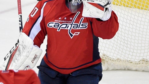 FILE - In this Saturday, March 4, 2017, file photo, Washington Capitals goalie Braden Holtby (70) watches the puck during the third period of the team's NHL hockey game against the Philadelphia Flyers, in Washington. NHL teams with long winning streaks have struggled in the aftermath of them this season. While the Minnesota Wild bucked the trend, the Columbus Blue Jackets steadied themselves after some struggles and the Capitals are working on getting back on track. (AP Photo/Nick Wass, File)