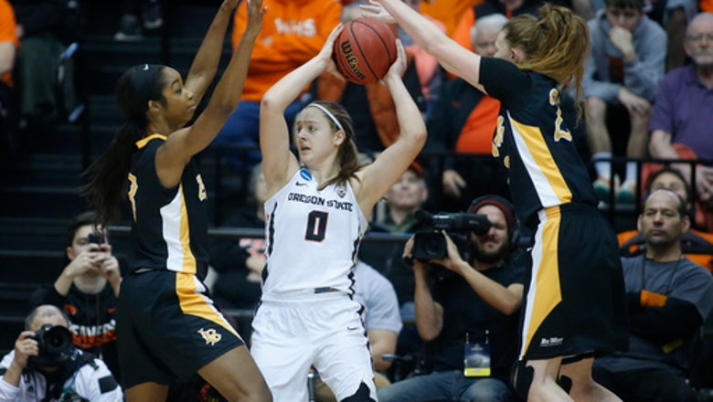 Second-seeded Oregon State survives Long Beach State 56-55