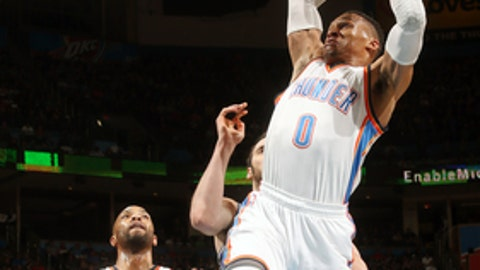 No rest for Westbrook, but Thunder handles Kings 110-94
