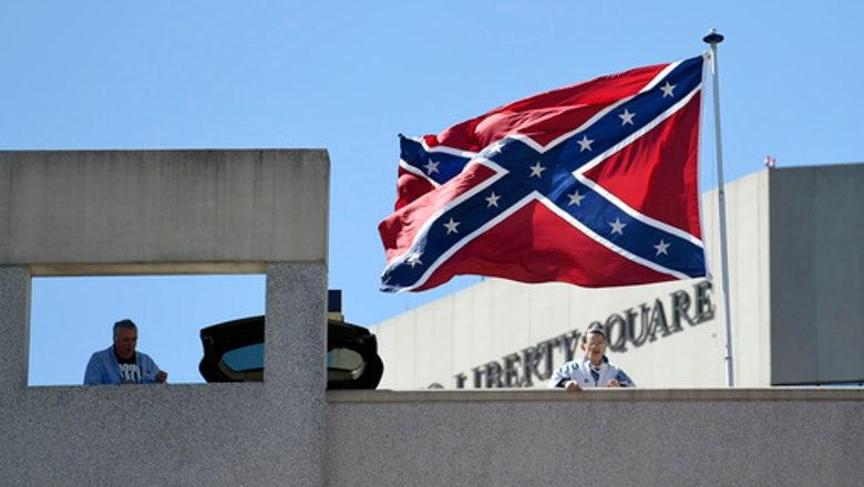 Confederate flag flies next to NCAA arena in South Carolina