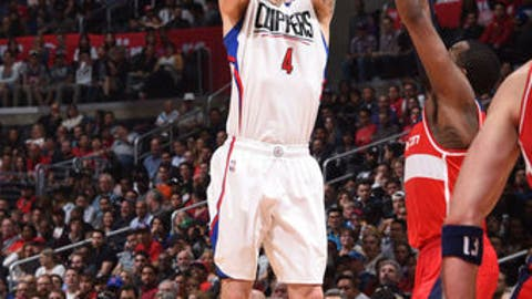 LOS ANGELES, CA - MARCH 29:  JJ Redick #4 of the LA Clippers shoots the ball during a game against the Washington Wizards on March 29, 2017 at STAPLES Center in Los Angeles, California. NOTE TO USER: User expressly acknowledges and agrees that, by downloading and/or using this photograph, user is consenting to the terms and conditions of the Getty Images License Agreement. Mandatory Copyright Notice: Copyright 2017 NBAE (Photo by Andrew D. Bernstein/NBAE via Getty Images)