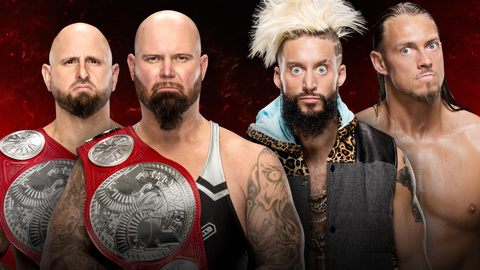 Luke Gallows and Karl Anderson vs. Enzo and Cass for the Raw Tag Team Championship